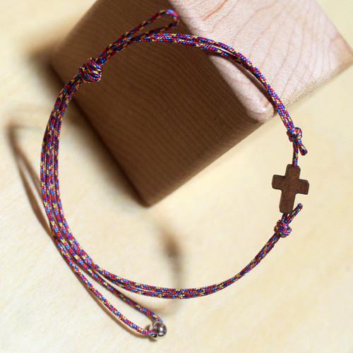작은나무 십자가 매듭 팔찌