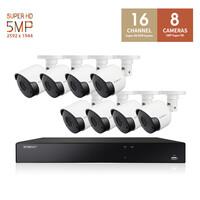 한화테크윈 와이즈넷 SDH-C1608BF 16채널 8카메라 CCTV 패키지