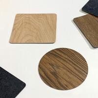 [MAGNET] 로기아 나무 돌 질감 컵받침 코스터 4p
