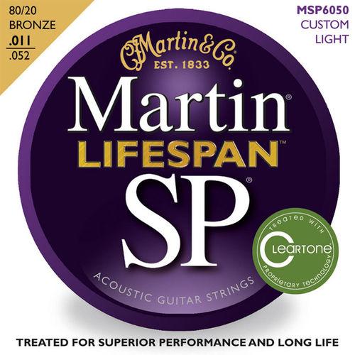 마틴 어쿠스틱 기타줄 SP LifeSpan CUSTOM LIGHT (MSP 6050) - 80/20 Bronze
