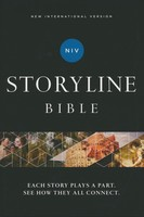 NIV: Storyline Bible, Hardcover, Comfort Print: Each Story Plays a Part. See How They All Connect