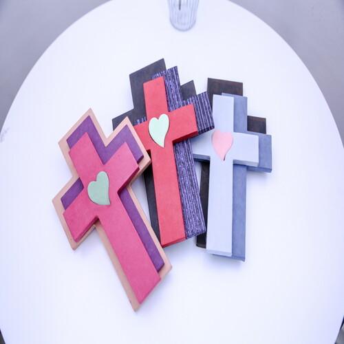 한지 수공예 세겹 십자가