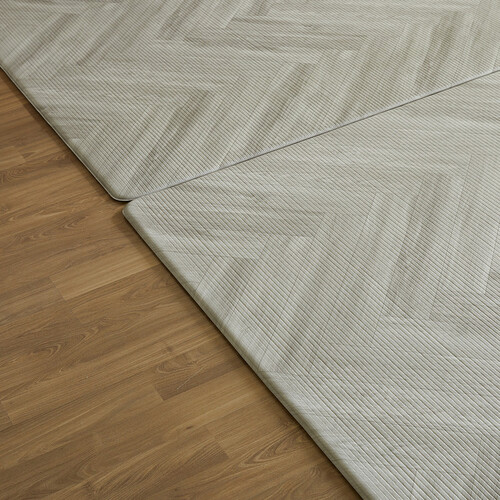 PVC 양면 바닥 매트 - 헤링본우드
