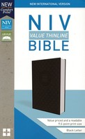 NIV: Value Thinline Bible (Imitation Leather, Gray/Black)