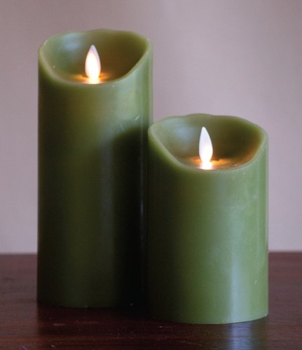 FLAMELESS CANDLE GREEN SMOOTH - 그린
