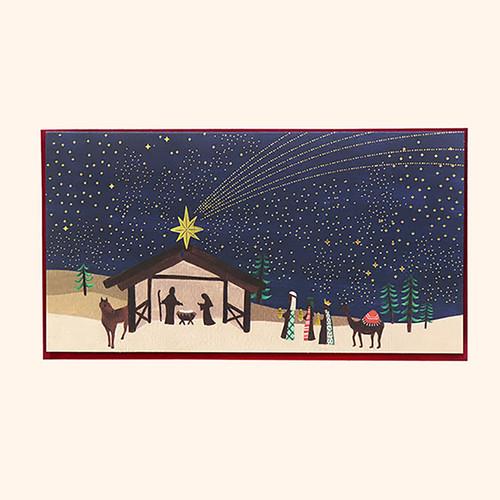 [일러스트 크리스마스카드] 02 이 곳에 오신 별