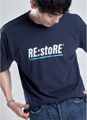 언더라인 포인트 티셔츠 (네이비)