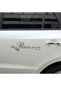 자동차 레터링 - Peace (평화)