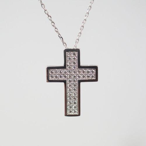 [십자가 목걸이] C-P166C(체인포함) / 실버