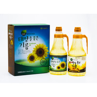 통일장마당 저온압착 해바라기씨유 선물세트(1L*2개)