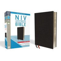 NIV: Thinline Bible, Large Print (Bonded Leather, Black)