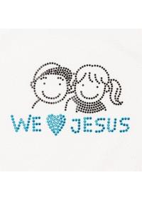 핫 픽스 큐빅 티셔츠 WE LOVE JESUS(LC9042)-성인용