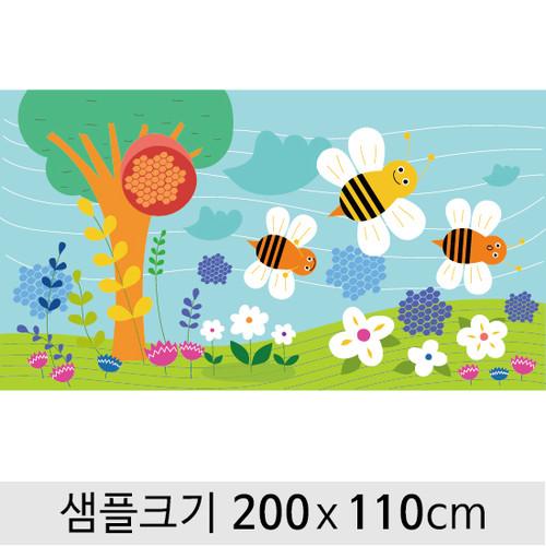봄배경현수막-074  ( 200 x 110 )