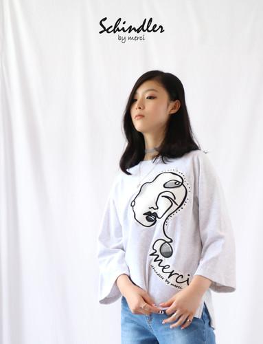 7부멀씨티셔츠