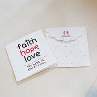 메세지카드 미니/No.19-faith,hope,love 레드(플라워)