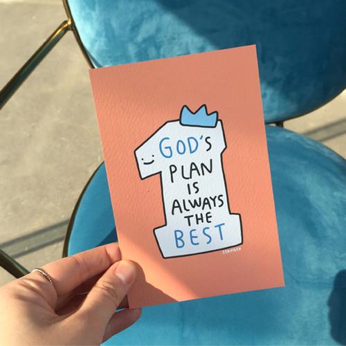 굿뉴스드로잉 엽서 01.Gods plan
