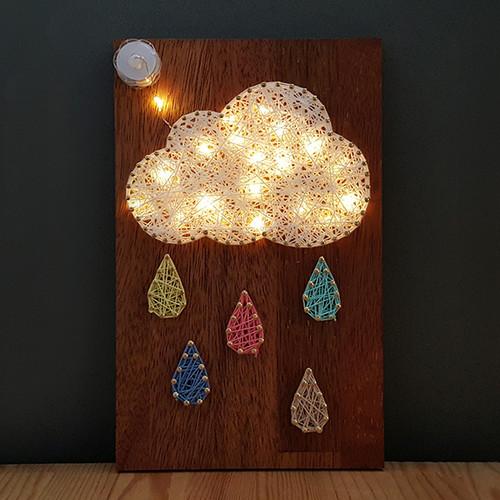 구름비 스트링아트(우드/LED)