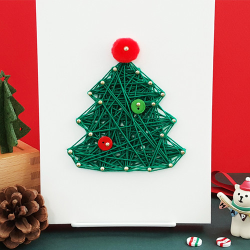 크리스마스 미니트리 스트링아트(스펀지)