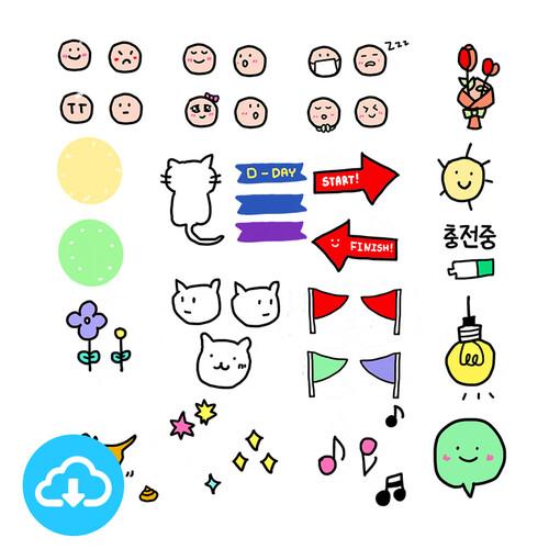 디지털스티커 1 쪼꼬미 by 행복한말구유 / 이메일발송(파일)