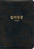 컬러성경 중 합본 (색인/이태리신소재/지퍼/다크브라운)