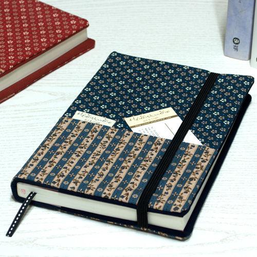 핸드메이드 패브릭 북커버 Ver.21 Floral Stripe / 색상선택