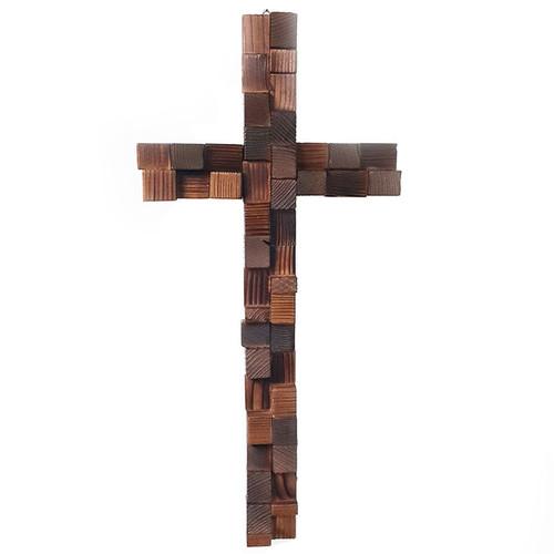 나무조각 벽걸이십자가(대)