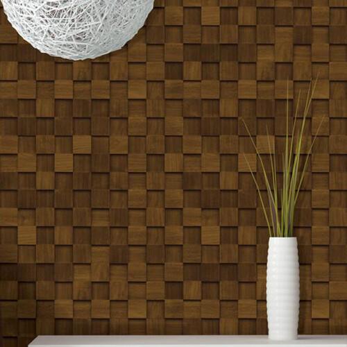 HW-22504 사각입체타일무늬 나무 무늬목시트지