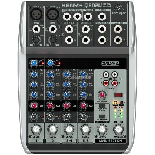 베링거 XENYX Q802USB 아날로그 믹서