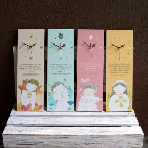 시아와세 자작나무 벽시계 - Love Edition