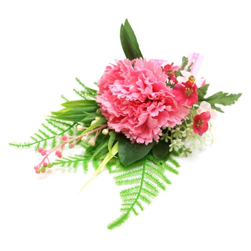 국내수작업 카네이션 코사지 20cm - 사랑3호 핑크