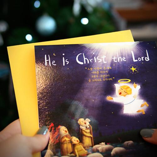 성탄카드_He is Christ_5개 1set