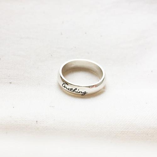 CR104 Onething 원띵 (시편27:4) / 말씀반지/ 은반지 Silver925