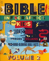 Bible Infographics for Kids Vol. 2: Light and Dark, Heroes and Villains, and Mind-Blowing Bible Facts