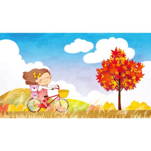 가을배경현수막(자전거)-248 ( 230 x 130 )
