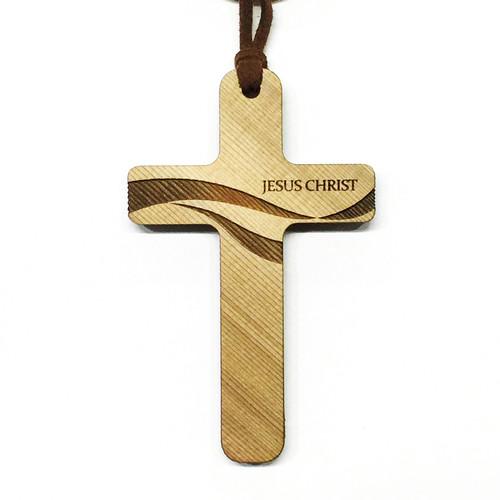 성령의바람 - 나무십자가목걸이