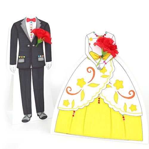 [만들기패키지]카네이션 드레스 카드(5개이상구매가능)