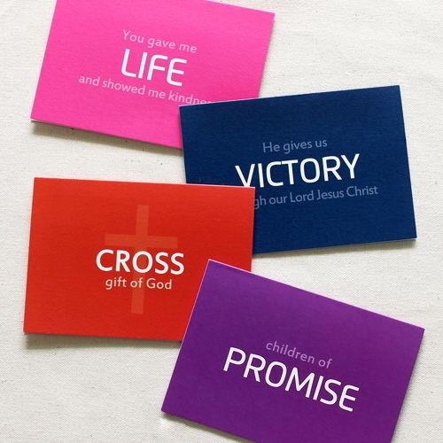 Cross Keyword 카드세트 (4장 스티커)