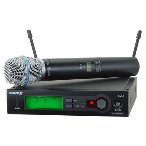 SHURE SLX24/BETA87A 무선 핸드마이크