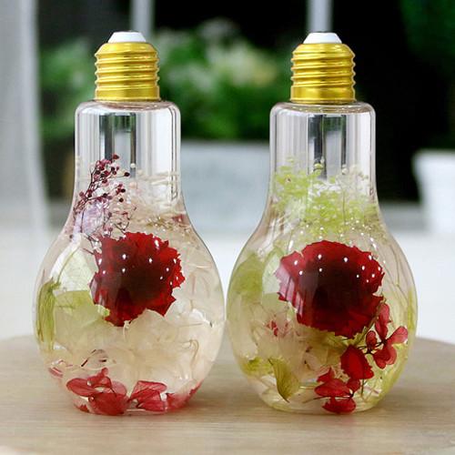 LED전구하바리움 카네이션 시들지않는꽃 감성인테리어