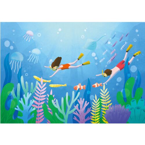 여름배경현수막(바다_잠수)-506 ( 200 x 140 )