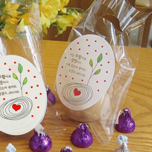 기쁨_ 부활절 계란 포장 비닐(달걀 비닐+스티커/ 50장 한셋트)