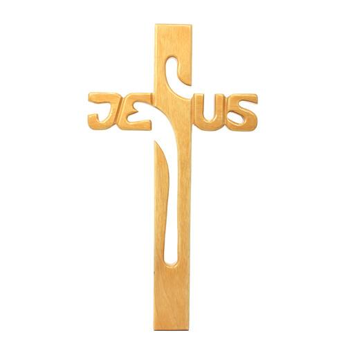 원목 JESUS 벽걸이십자가