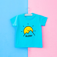 글로리월드 티셔츠 - 영광의 아침(스카이블루)_(30벌 이상 주문 가능)