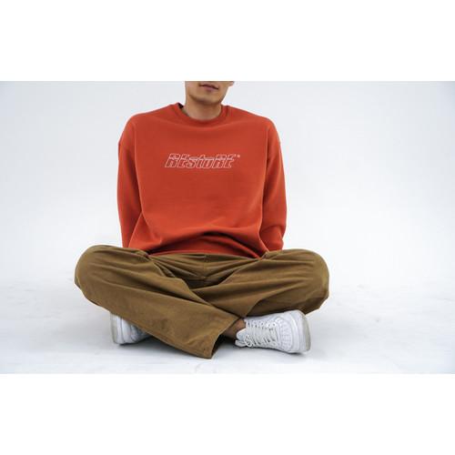 크루넥 기모 스웨트 셔츠 (브릭레드)