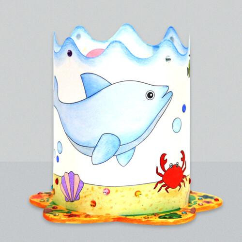[아트공구43-11] 여름 바다 물고기 조명등(전등갓)
