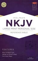 NKJV: Large Print Personal Size Reference Bible (Purple, Imitation Leather)