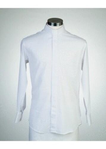 목회자셔츠-오메가셔츠 흰색 (로만카라)