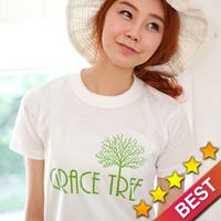 글로리월드 선교 티셔츠 - 은혜의 나무(Grace tree) _ 흰색_(30벌 이상 주문 가능)