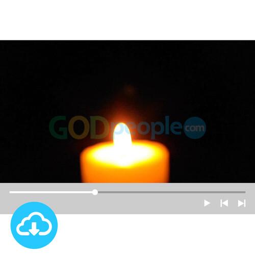 예배용 영상클립2 by 니카 / 촛불 / 성탄절 / 대림절첫째주 / 이메일 발송(파일)