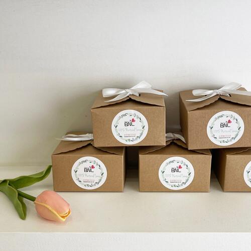 BNL 리본상자+천연비누1개 세트-단체선물